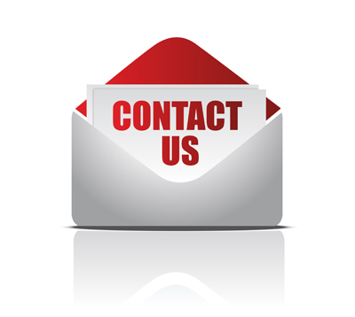 Contact us card in an envelope